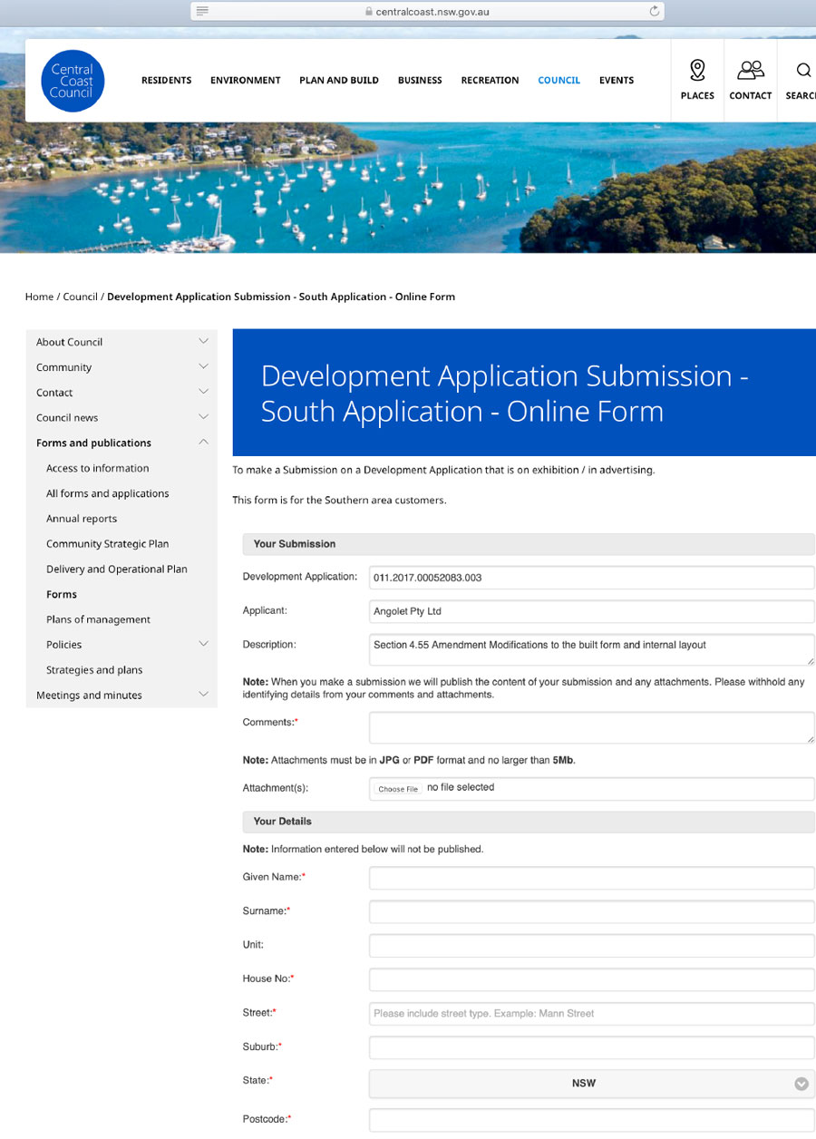 southsubmission form